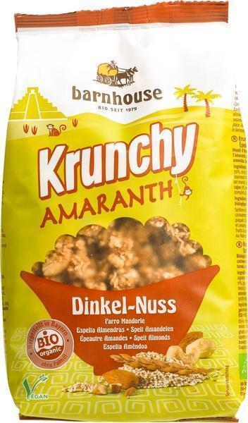 krunchy amaranth spelt & noten (zak, 375g)