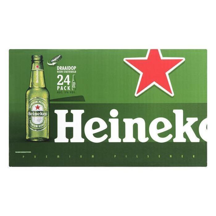 Heineken Fles met draaidop (rol, 24 × 250ml)