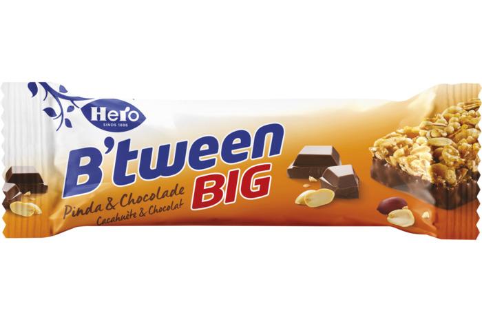 HERO B'TWEEN GRAANREEP CHOCOLADE/PINDA (50g)