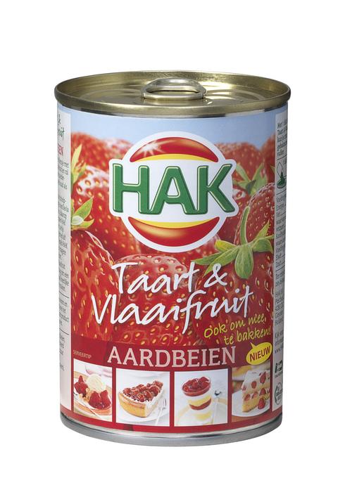 Taart & Vlaaifruit aardbeien (blik, 430g)