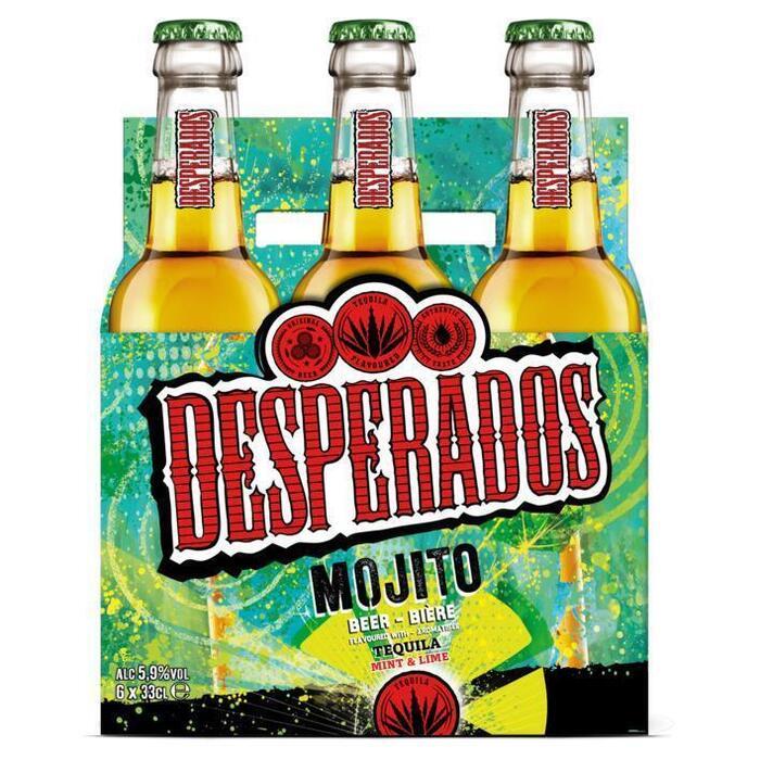 Desperados Speciaalbieren mojito fles 6 x 33 cl (rol, 6 × 33cl)