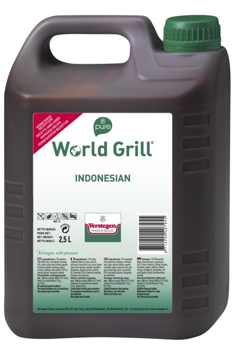 Verstegen Pure World Grill Indonesian 2,5 LT kan (2.5L)