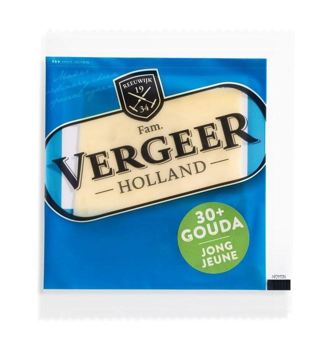 Vergeer Holland Kaas 30+ Plakken Gouda Light 30g (30g)