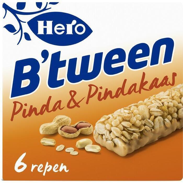 Hero B'tween Pinda & Pindakaas 6 x 25 g (Stuk, 6 × 150g)