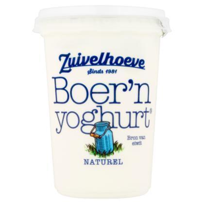 Zuivelhoeve Boer'n Yoghurt Naturel 450 g (450g)