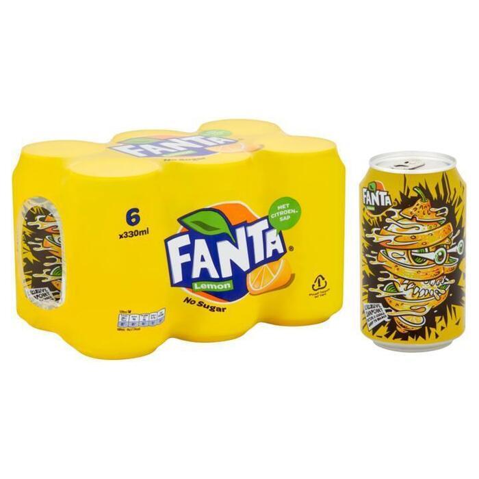 Fanta Lemon blik 6 x 33 cl (6 × 33cl)