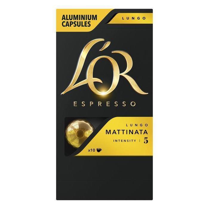 Koffiecups lungo mattinata (10 × 52g)