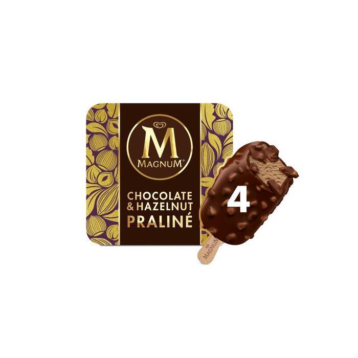 Magnum hazelnut praline 4 stuks (Stuk, 6 × 36cl)