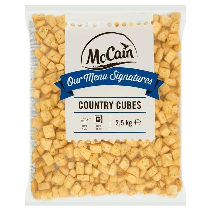 MCCAIN MENU SIGN COUNTRY CUBES (2.5kg)