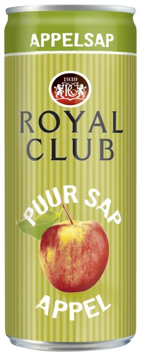 ROYAL CLUB APPELSAP 25cl can (baal, 25 × 250ml)