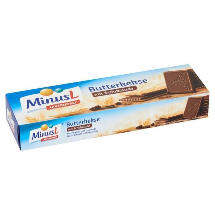 MinusL Boterkoekjes met Chocolade 125g (125g)