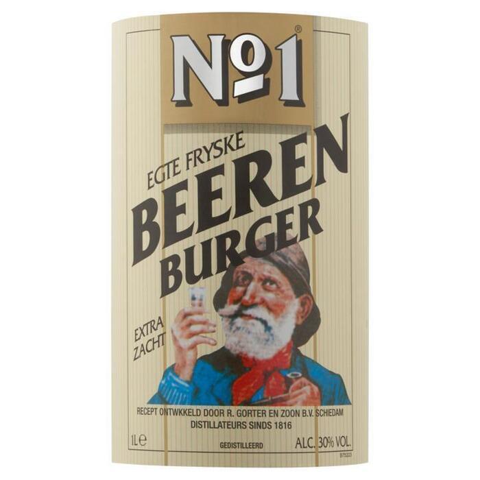 NO.1 FRYSKE BEERENBURG 30% 100 CL. FLES (1L)