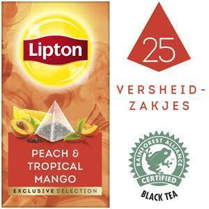 Lipton Excl Select Perzik Mango 25S 6X (bak, 45 × 45g)