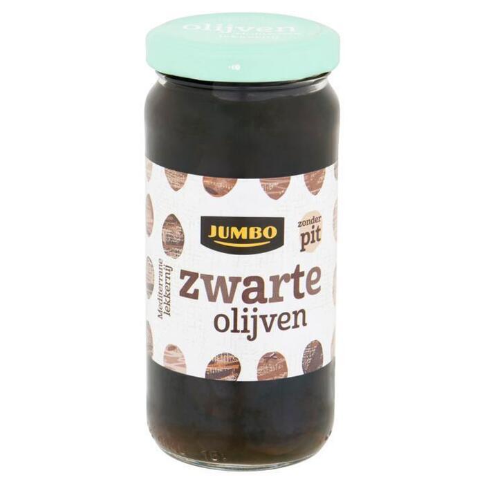 Zwarte olijven zonder pit (pot, 220g)