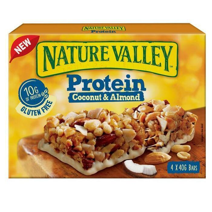 Nature Valley Protein kokos & amandelen (4 × 40g)