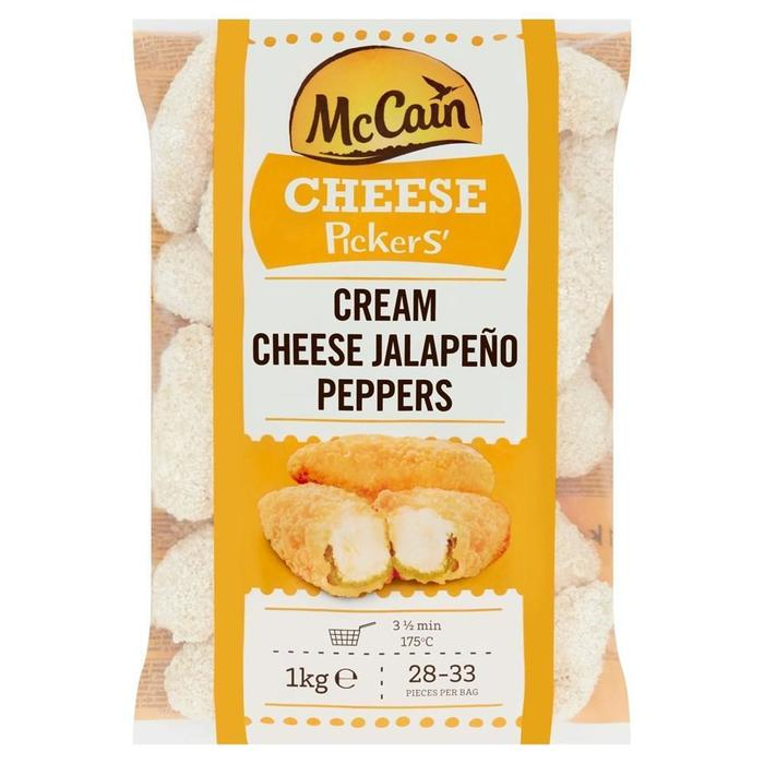 MCCAIN CREAM CHEESE PEPPERS CHEESE PICKERS (1kg)