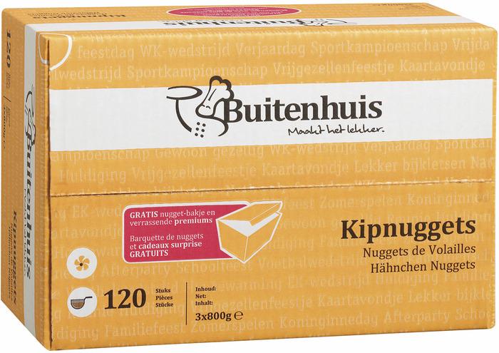 BUITENHUIS KIPNUGGETS, 120 ST (120 × 2.4kg)