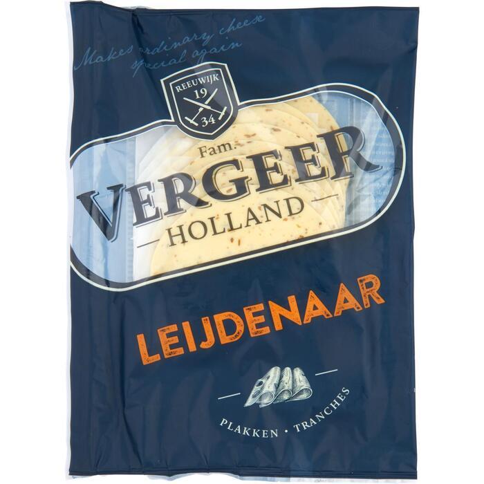 Vergeer Holland Kaas 40+ Plakken Leijdenaar Jong 150g (150g)