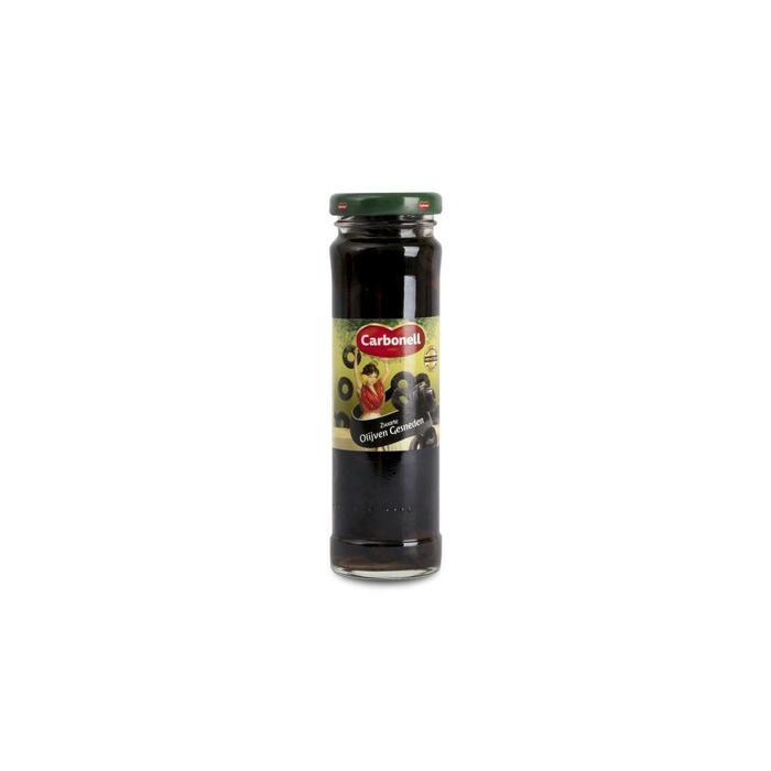 Carbonell Zwarte olijven gesneden (75g)