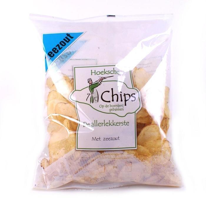 Hoeksche Chips zeezout (plastic zak, 150g)