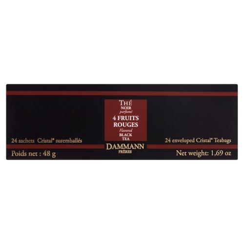 Dammann 4 Fruits Rouges Flavored Black Tea 24 Theezakjes 48 GRM Doos (24 × 48g)