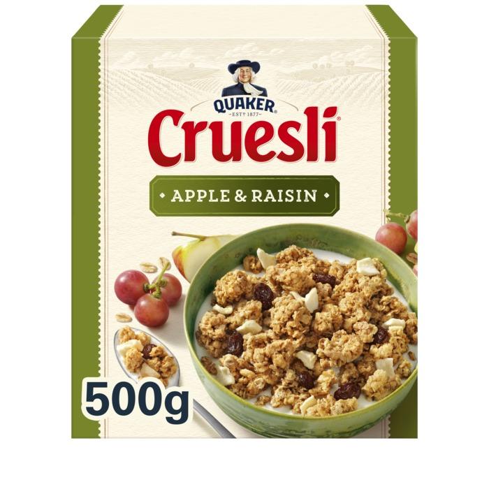 Cruesli Appel & Rozijn (doos, 500g)