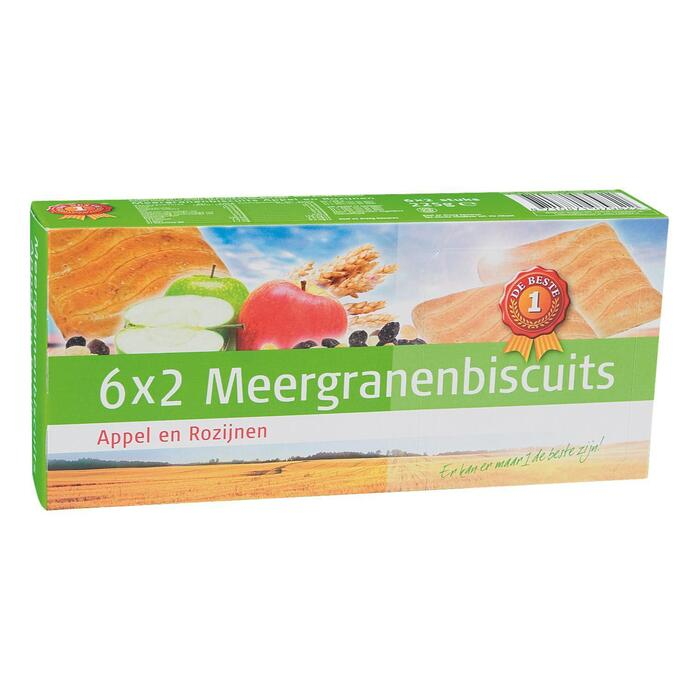 Meergranenbiscuit appel