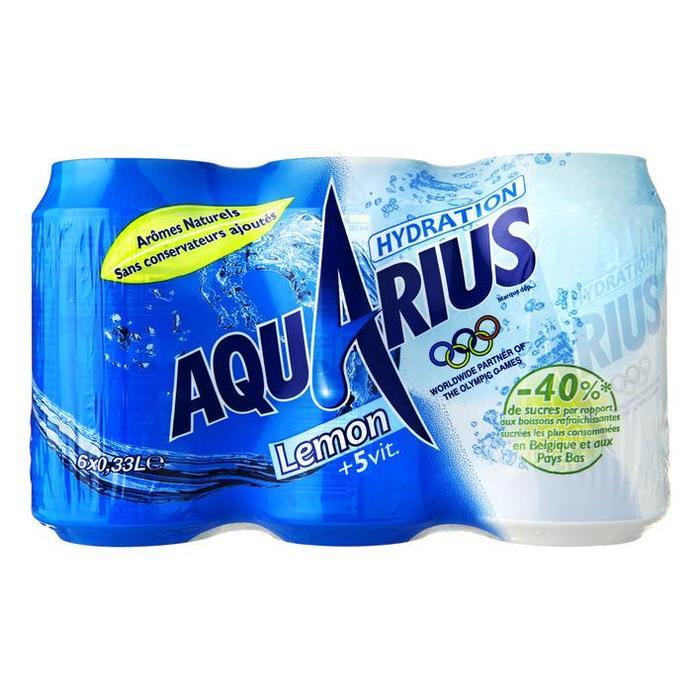 Aquarius Lemon Blik 0.33L 6x (6 × 33cl)
