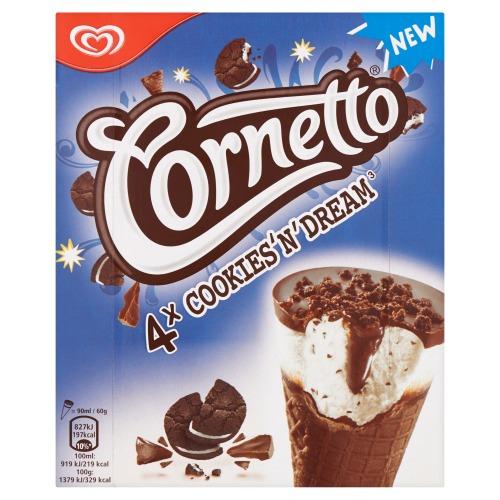 Cornetto Cookie Dream 4x90ML 6x (4 × 36cl)