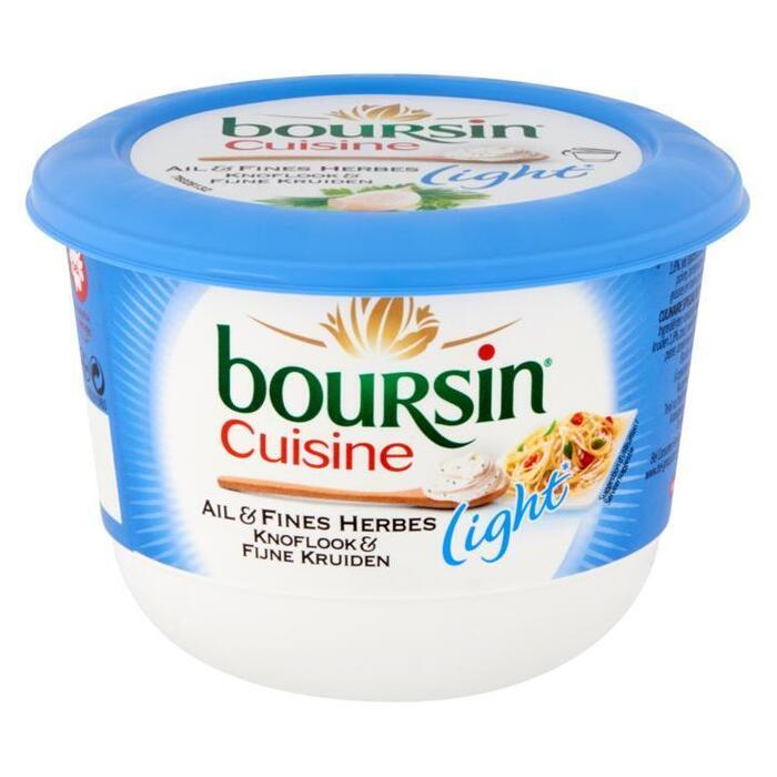 Boursin Cuisine, Knoflook en Fijne Kruiden light (bak, 240g)