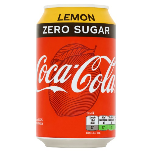Coca-Cola Zero Sugar Lemon 330ml (rol, 33 × 33cl)