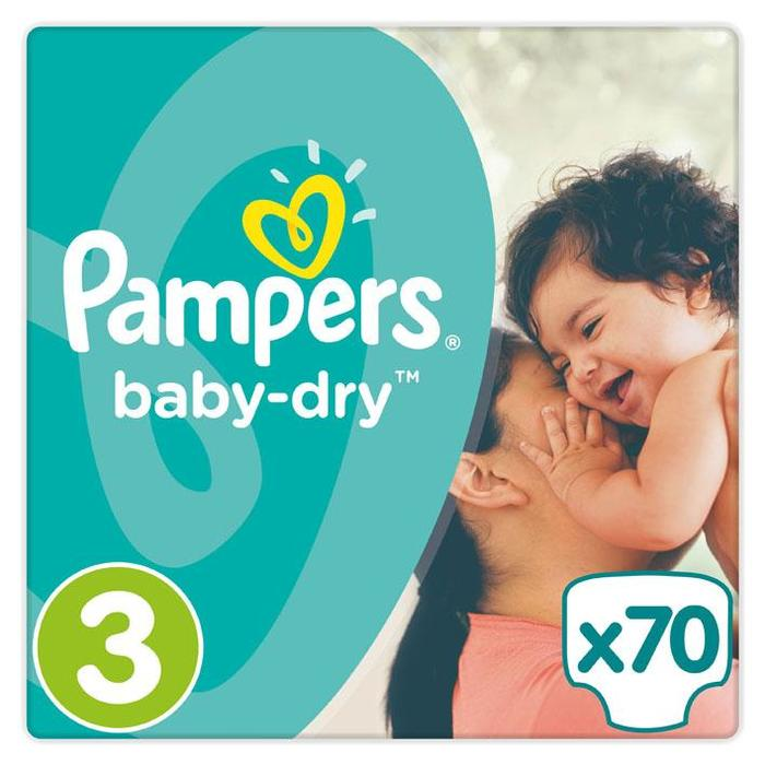 Pampers Luiers Pampers Baby Dry Maat 3  PAK (Stuk, 70 × 200g)