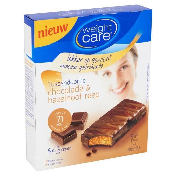 Weight Care Fruitreep chocolade noot (stuk, 8 × 20g)