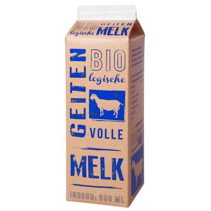 Biologische Volle Geitenmelk (pak, 0.5L)