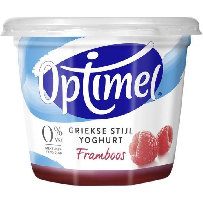 Yoghurt griekse stijl framboos (Stuk, 450g)