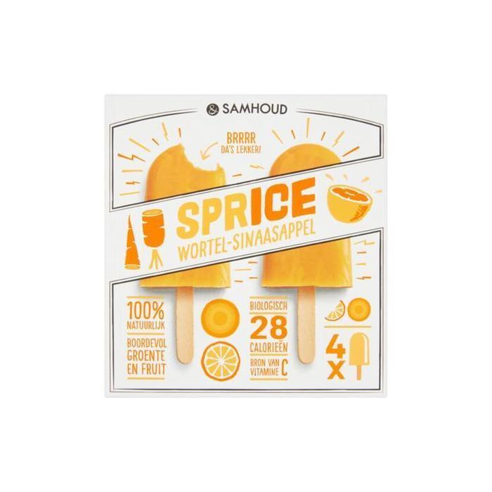 &samhoud SPRICE Wortel-Sinaasappel 4 x 50ml (4 × 200ml)