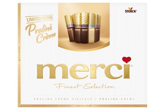 merci Finest Selection Praliné Crème Chocoladeproducten / bon bons / bit 250 g Doos (20 × 250g)