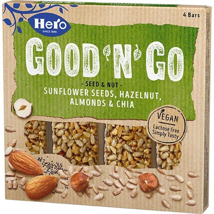 Hero Good'n'go sunfl hazelnut almonds chia (4 × 100g)