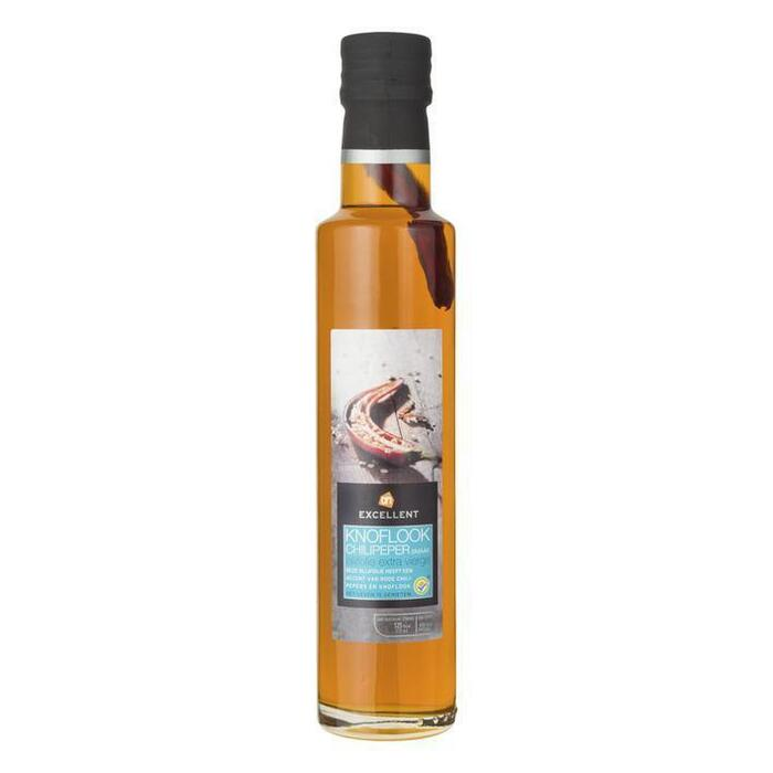 Olijfolie knoflook/chilipeper (glazen fles, 250ml)