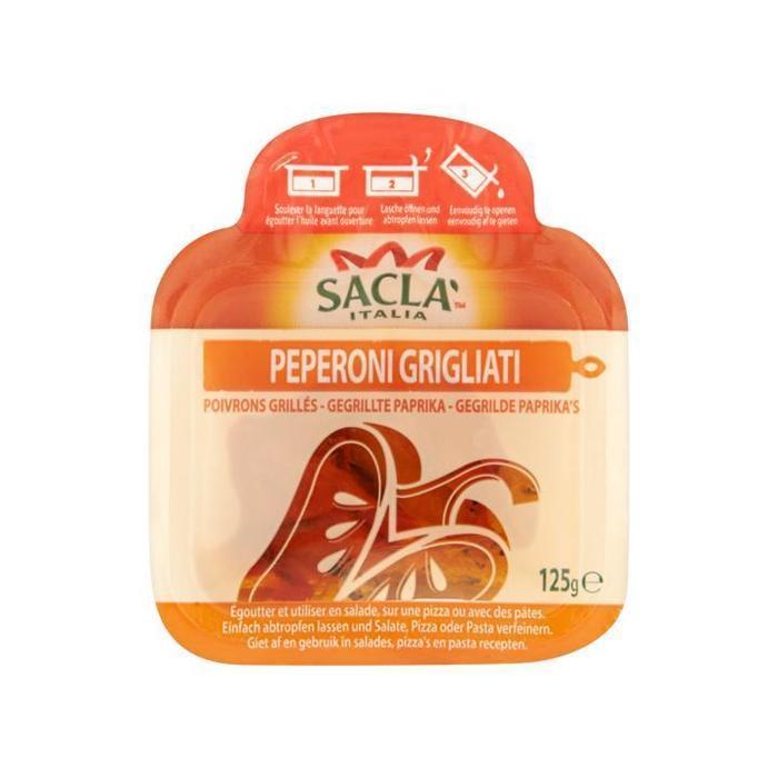 Saclà Gegrilde Paprika's 125g (125g)