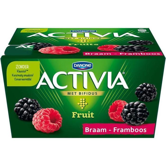 Activia Fruits Bosvruchten (kuipje, 4 × 125g)