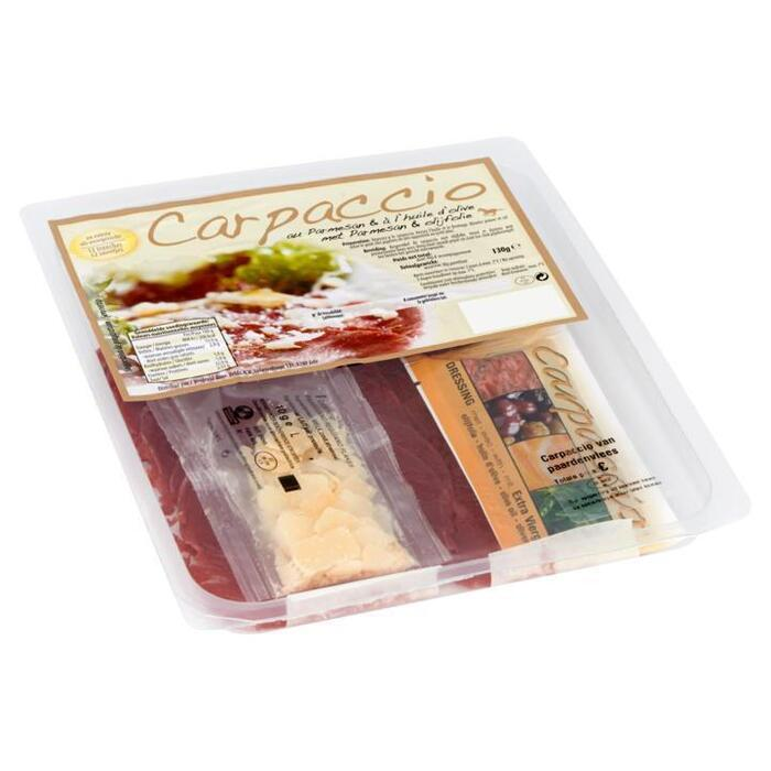 Paardencarpaccio met Parmesan & Olijfolie 130g (130g)