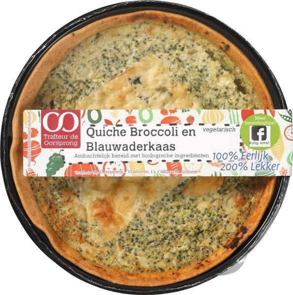 Quiche broccoli - blauwaderkaas (350g)