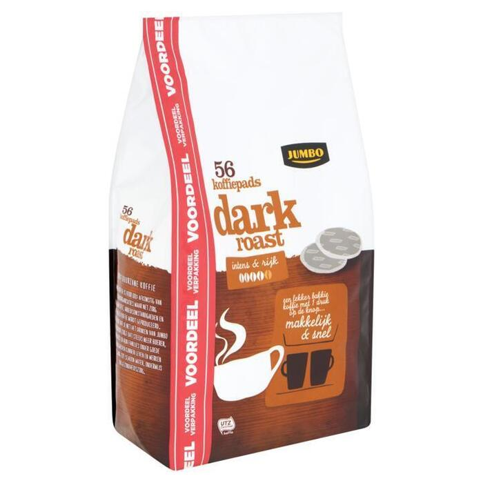 Jumbo Dark Roast 56 Koffiepads Voordeelverpakking 389g (389g)
