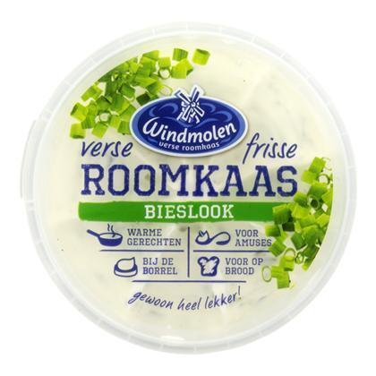 Roomkaas bieslook (kuipje, 125g)