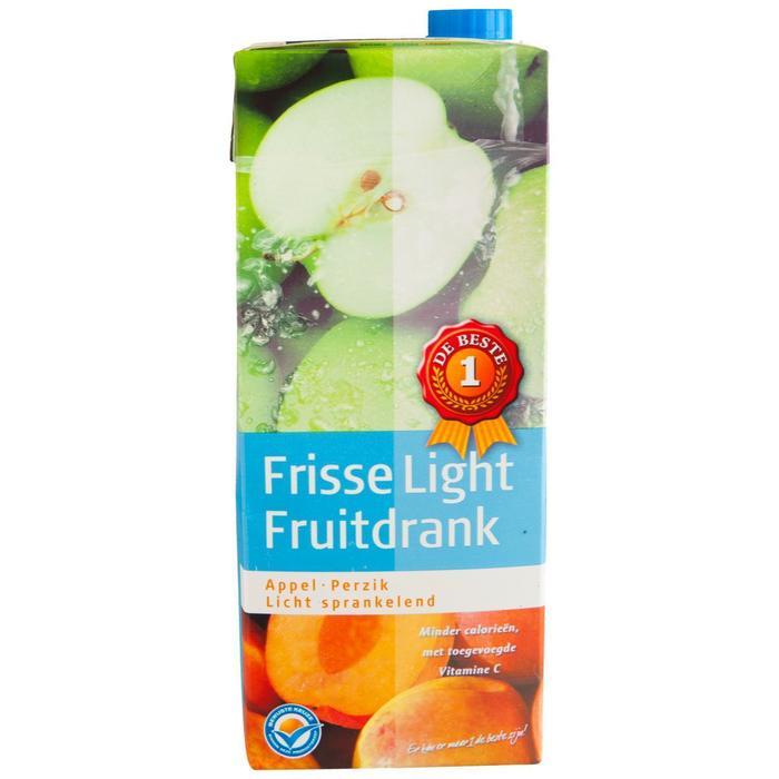 Frisse fruitdrank light appel/perzik (1.5L)