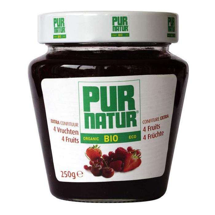Biologische 4-vruchtenconfituur (pot, 250g)