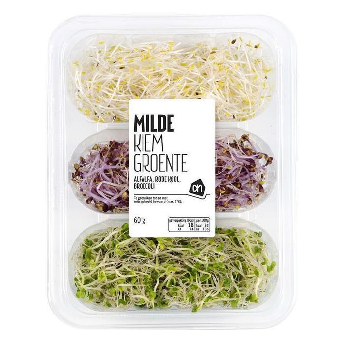 KIemgroenten Mild Alfalfa, rodekool broccoli (bak, 60g)