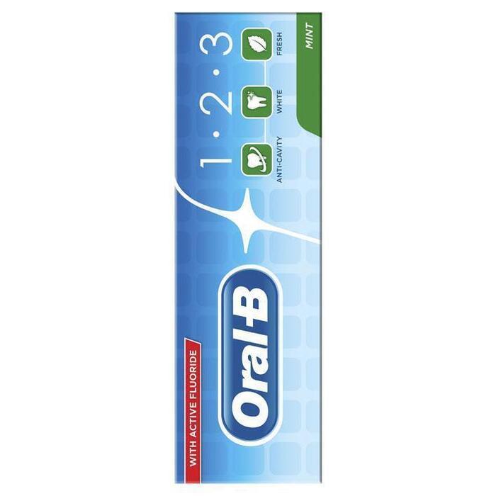 Oral-B 1.2.3 Mint Frisse Tandpasta 75 ml (75ml)