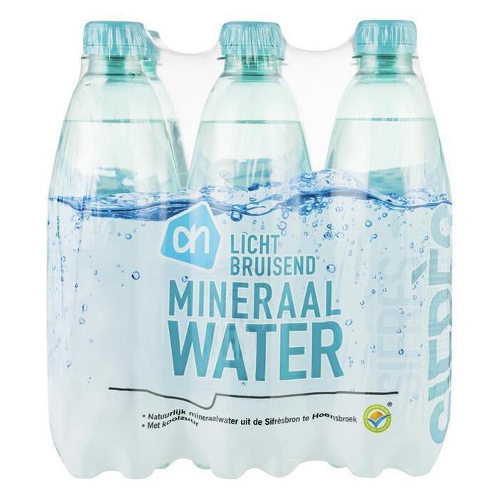 AH Natuurlijk Mineraalwater licht bruisend (Petfles, 6 × 0.5L)